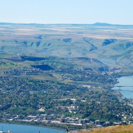 A view of the Eagle Cap mountains as seen from the top of the Lewiston Hill