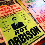 Posters advertising shows by Roy Orbison and other famous performers who visited Lewiston are among items that will be on display.