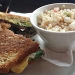 The Porta-Mystic sandwich and Greek Couscous.