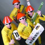 Mike Goodell, Derek Katzenberger, Jeff Karlin and Mike Larson of the Katz Band will perform as Devo for the 2015 Lewiston Civic Theatre Fine Arts Ball.