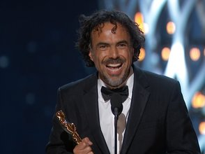 "Alejandro González Iñárritu from ""Birdman"" takes the Oscar for Best Picture, Best Director and Best Original Screenplay."