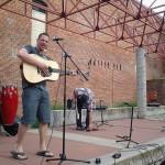Bramlet performing in downtown Lewiston in 2014.