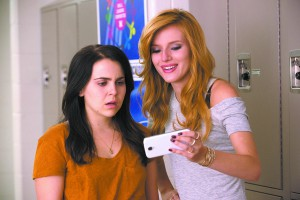 "Bianca (Mae Whitman) and Madison (Bella Thorne) in ""The Duff"" a high school romantic comedy."