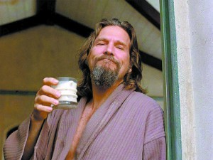 Jeff Bridges and his White Russian