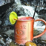 The Moscow Mule is traditionally served in a copper mug.