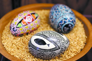 Pysanky decorated eggs