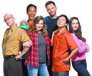 "The cast of ""Community"" which airs its sixth season on Yahoo."
