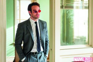 "Matt Murdock (Charlie Cox) fights crime by day as an attorney in ""Daredevil."""