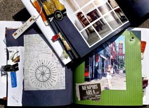Embellished photobook by Elizabeth Sloan