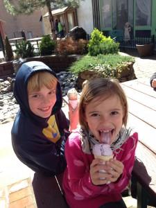 360_pomeroydaytrip_Isaiah and Karah enjoying ice cream in Pomeroy's community space