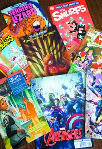 Comic book stores across the U.S. and Canada hand out free comics the first weekend in May.