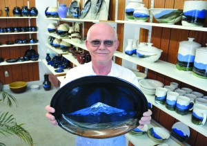 Lewiston artist Michael Wendt has used Mount St. Helens ash for his signature work since 1980 and still has a large supply of the ash.