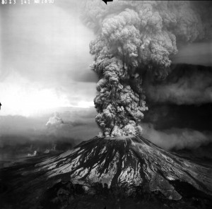 Mt. St. Helens on May 18, 1980, the Pacific Northwest's premier natural disaster of the 20th century. Photo courtesy of the U.S. Geological Survey.
