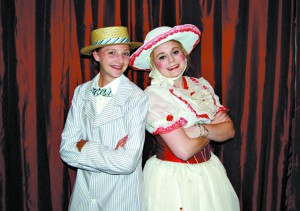"Kaitlyn Blume as Bert and Molly Petersen as Mary Poppins will perform in the Main Street Dance performances of ""Mary Poppins."""