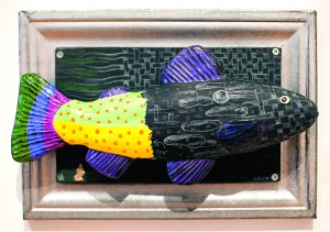 """Black Fish"" by Marilyn Lysohir is part of a show titled ""Endangered"" at the Prichard Art Gallery in Moscow."
