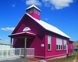 The Jones Schoolhouse was built in 1895 in Dusty, Wash., and moved to the Palouse Empire Fairgrounds in 2010. (Whitman County Historical Society)