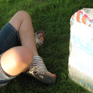 Summer dare: Ice block at a nearby park