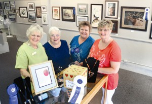 Vickie Wayne, Helen xx, Ivy Breen and Robin Harvey are helping to celebrate the 50th anniversary of the founding of the Valley Art Cnetr on Sixth St. in Clarkston, where there are also creating and teaching their art.