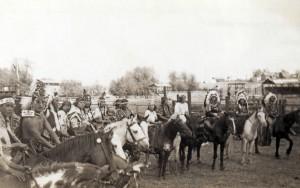 Nez Perce on horseback, 1933. (Photo University of Idaho Special Collection)