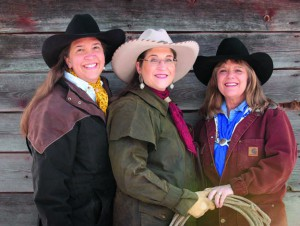 Members of the Horse Crazy Cowgirl Band are (from left)  Jennifer Epps, Judy Coder and Lauralee Northcott. Photo by Teri J Pieper.