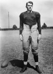 """Ronald Reagan poses on the field in a scene from the 1940 film """"Knute Rockne - All American"""", in which Reagan portrays Notre Dame halfback George Gipp.  (AP Photo)"""