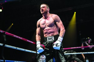 """This photo provided by The Weinstein Company shows Jake Gyllenhaal as Billy Hope, in the film, """"Southpaw."""" The movie releases in the U.S. on July 24, 2015.  (Scott Garfield/The Weinstein Company via AP)"""