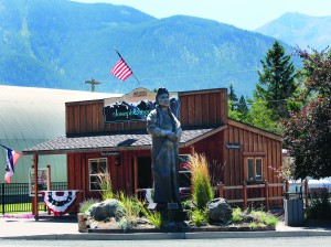 Joseph's Main Street is lined with giant bronze sculptures like this one of Chief Joseph erected in 2012.