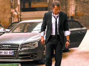 """This photo provided by EuropaCorp/TF1 Films shows, Ed Skrein, as Frank Martin, in EuropaCorp's """"The Transporter Refueled."""" The film opens in U.S. theaters on Friday, Sept. 4, 2015. (Bruno Calvo/EuropaCorp/TF1 Films via AP)"""