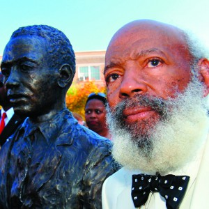 James Meredith at the University of Mississippi in 2006 as the school dedicated a bronze statue in his likeness on campus.