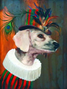 The series of animal portraits wearing unusaul steampunk attire.