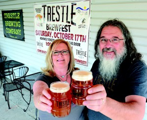 Kim and Mike Ingram owners of Trestle Brewing Company at the Halfway Club will be hosting a brewfest this Saturday in Fredinand, featuring several craft brews and music.