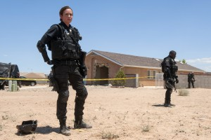 """In this image released by Lionsgate, Emily Blunt appears in a scene from """"Sicario."""" (Richard Foreman Jr./Lionsgate via AP)"""