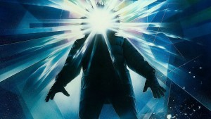"In the 1982 horror flick ""The Thing"" scientists working in the Antarctic encounter a mysterious being that can assume the appearance of the people it kills. The movie stars Kurt Russell."