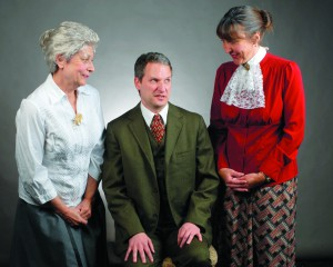 "Cast members, fom left Sheila Scott as ""Abby"", Travis Osburn as "" Mortimer and Diane Hairston as Martha are the main characters of the Lewiston Civic Theater's prodiction of Arsenic and Old Lace which uns Nov. 5 through the 22nd."