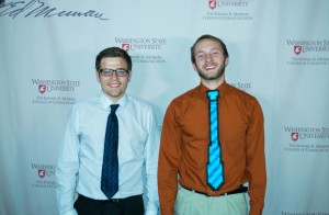 """The 8 Bit"" director Matt Hadow (left) pictured with producer Seth Hansen."