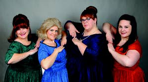 """""""The Wonderettes"""" stars (from left to right) Patricia Brinegar as Betty Jean, Amanda Klempel as Suzy, Jennifer Opdahl as Missy and Alaina Trickey as Cindy Lou."""
