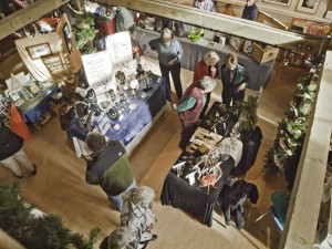 A view from above at the Artisans at the Dahmen Barn annual Holiday Gala, one of many fairs taking place this weekend.