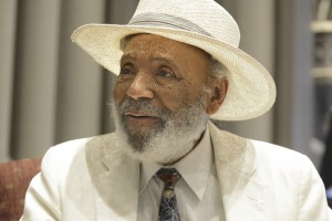 Civil rights activiist James Meredith talks at Lewis-Clark State College Sunday about the long road since 1962 when he entered Ole Miss as the school's first black student.