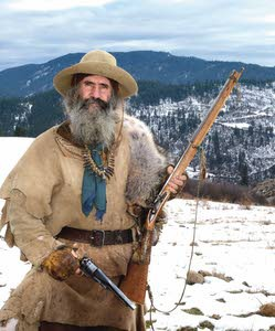 Bear Claw, 59, keeps the traditions of the mountain men alive by living primitively in North Idaho.