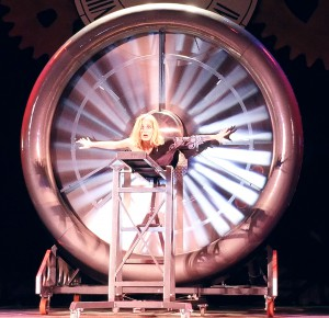 "Sharii Nelson must survive a spinning jet turbine in one act during ""Smoke and Magic."""