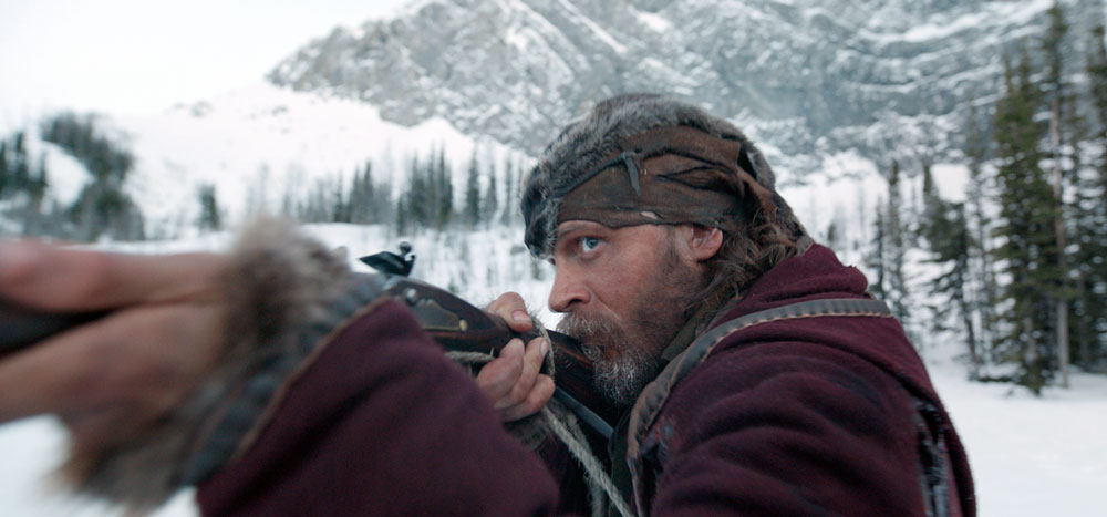 "This photo provided by Twentieth Century Fox shows Tom Hardy in a scene from the film, ""The Revenant."" Hardy was nominated for an Oscar for best supporting actor on Thursday, Jan. 14, 2016, for his role in the film. The 88th annual Academy Awards will take place on Sunday, Feb. 28, at the Dolby Theatre in Los Angeles. (Twentieth Century Fox via AP)"