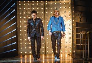 """Derek Zoolander (Ben Stiller) and Hansel (Owen Wilson) strut down the catwalk in """"Zoolander 2."""""""