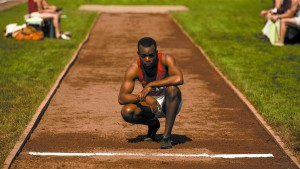 "This photo provided by Focus Features shows Stephan James as Jesse Owens in Stephen Hopkins' ""Race,"" a Focus Features release. (Thibault Grabherr/Focus Features via AP)"