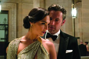 "This image released by Warner Bros. Pictures shows Gal Gadot, left, and Ben Affleck in a scene from, ""Batman v Superman: Dawn of Justice."" (Clay Enos/Warner Bros. Pictures via AP)"