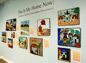"A bright display of quilts at the Lewis-Clark Center for Arts & History is called ""This Is My Home Now: Narrative Textiles from Idaho Newcomers."""