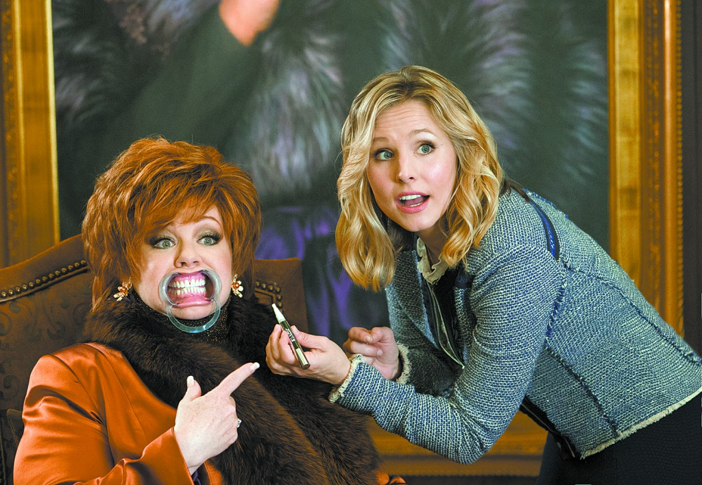 "This image released by Universal Studios shows Melissa McCarthy, left, and Kristen Bell in a scene from, ""The Boss."" (Hopper Stone/Universal Studios via AP)"