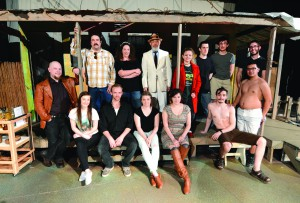 The cast of Lewiston Civic Theatre's production of Night of the Iguana takes to the set before opening night in Lewiston.