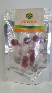 These Green Chief Jewels lozenges are hard candies packaged in 10 mg. doses.
