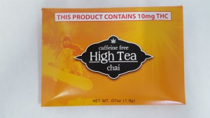 This package of High Tea is chai flavored with 10 milligrams of THC, the standard dose in Washington state.