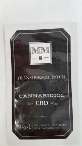 This transdermal CBD patch works like a nicotine patch.